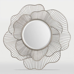 Ren-Wil - Ren-Wil Brocade Round Wall Mirror - 40 diam. in. Multicolor - MT1387 - Shop for Mirrors from Hayneedle.com! The Ren-Wil Brocade Round Wall Mirror - 40 diam. in. is the juxtaposition of soft rose petals and wire construction. This mirror is as versatile as it is stylish. Made from metal with an engineered wood back and antique silver leaf finish. Includes hanging hardware.About Ren-WilFor over 45 years Ren-Wil has been creating quality wall decor mirrors and lighting that enhances any space. The company's talented team of in-house artists travels the world to find the newest materials fashions and trends and then applies them to their work. The team also uses multi-media designs for many of their pieces. Ren-Wil is the leader in Alternative Wall Decor and is the market leader in Canada. They thrive on offering a fresh innovative product line and superior customer service.