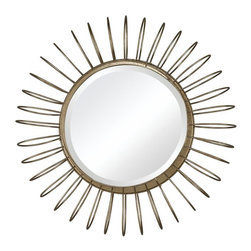 Sterling Industries - Green Field-Mirror In Gold Leaf Wire Frame - Green Field-Mirror In Gold Leaf Wire Frame