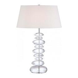 Minka George Kovacs - Minka George Kovacs Decorative Portables 1-Light Chrome Table Lamp - This 1-Light Table Lamp has a Chrome Finish and a White Linen Shade.