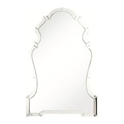 Z Gallerie - Anabelle Mirror - Sophisticated and glamorous, our Anabelle Mirror layers your wall with reflective luxe and decorative distinction. Curvilinear details meet with angular edges in our Anabelle Mirror, creating graphic play and visual interest. Elevating the design, the center mirror is layered with a stunningly rendered mirrored frame molding, adding depth and refinement to the elegant piece.