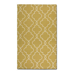 Uttermost - Uttermost Devonshire 8 x 10 Rug - Gold 71023-8 - Woven, Over Dyed Gold Wool With Off White Details.