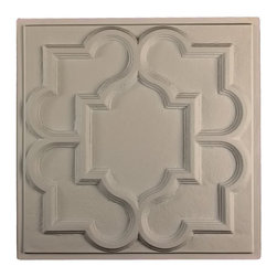 """Victorian Ceiling Tile - Latte-Sample - Perfect for both commercial and residential applications, these tiles are made from thick .03"""" vinyl plastic. Their lightweight yet durable construction make these tiles easy to install. Waterproof, these tiles are washable and won't stain due to humidity or mildew. A perfect choice for anyone wanting to add that designer touch at an amazing price."""