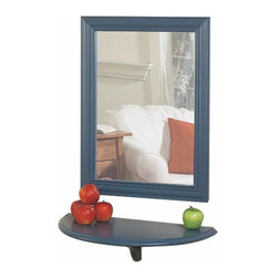 Renovators Supply - Mirrors Country Blue Pine Country 24 H x 18 W Mirror ONLY | 136525 - Solid Pine Mirror ONLY: Solid pine mirror frame. Country Blue color. Matching shelf sold separately. Mirror surface measures 20 in. H x 14 in. W. Measures with frame 24 in. H x 18 in. W.