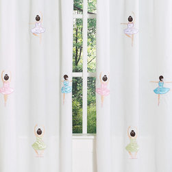 Sweet Jojo Designs - Ballet Dancer Ballerina 84-inch Curtain Panel Pair - Create a stylish look with these ballerina window panels. Pair with coordinating Sweet JoJo Designs children's bedding sets to help complete the look and feel of the bedroom theme for your child.