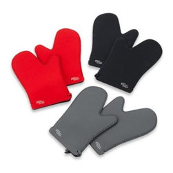 Mydrap - Duncan's Kitchen Grips 2-Piece Oven Mitt Set - Kitchen Grips oven mitts with textured grip give you safety, confidence and control in your kitchen.