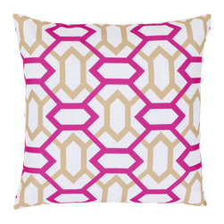 "Surya - Square Pillow FF-045 - 22"" x 22"" - Add style and sophistication to any room with this modern design. This pillow has a polyester fill and zipper closure. Made in China with one hundred percent Polyester, this pillow is durable and priced right."