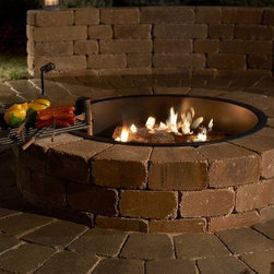 Grand Stone Outdoor Fire Ring Kit - You can create a gorgeous focal point for your outdoor entertaining area with the Grand Stone Outdoor Fire Ring Kit. Easy to follow directions are included. -Mantels Direct