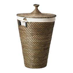 Åsunden Laundry Basket, Sea Grass - Prettier than the average laundry basket, this stylish rattan one comes with a lid to hide away the dirty clothes clutter.