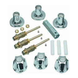 Danco - Danco Tub Shower Remodel Kit for Price Pfister Verve #39619 - Complete three-handle remodeling kit for Price Pfister Verve. Includes 2 metal handles, 1 metal diverter handle, stems, seats, flange with nipple, and socket wrench. Great, all-in-one kit for tub and shower handle replacement!