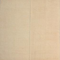 "ALRUG - Handmade Beige/Peach Oriental Kilim  7' 10"" x 9' 11"" (ft) - This Afghan Kilim design rug is hand-knotted with Wool on Wool."
