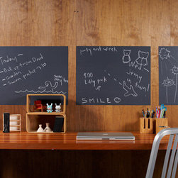 Chalk Board Wall Decals - Hang a chalkboard anywhere with these peel and stick panels. Place above a desk for easy note-taking, or in the kitchen for jotting down your grocery list.