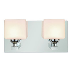 Trans Globe Lighting - 2692 PC Opal Cube Halogen Double SconceBathbars and Sconces Collection - Opal glass shade cubes