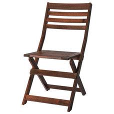 ÄPPLARÖ Folding chair, brown