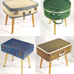 The Luggage End Tables - These funky and fun end tables also serve as great storage.