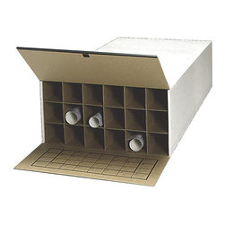 """Safco - Safco Medium Tube-Stor KD 18 Compartment Wood Roll Files Cabinet (Set of 2) - Safco - Filing Cabinets - 3094 - This tube file storage roll file is great for long-term or short-term storage. The Tube-Stor will accommodate your filing needs with sturdy and economic design that allows you to stack your files. You can also store multiple size documents in the same file with built-in tube length adjuster tabs that extend to 24"""", 30"""" and 36"""". The Tub-Stor roll file is the perfect low-cost system for storage."""