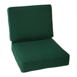 Trijaya Living - Sunbrella Outdoor Universal Patio Furniture Club Chair Cushions, Forest Green - Sunbrella Outdoor Universal Patio Furniture Club Chair Cushions