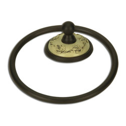 Atlas Homewares - Ivory/Bronze Bordeaux Towel Ring (ATHBTRIO) - Ivory/Bronze Bordeaux Towel Ring