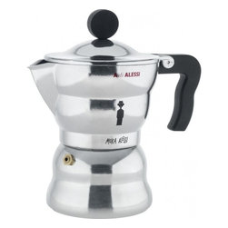 "Alessi - Alessi ""Moka Alessi"" Espresso Coffee Maker, Large - Espresso maker in aluminum casting with handle and knob in black thermoplastic resin."