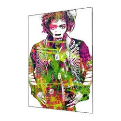 "Ready2HangArt - Ready2hangart Alexis Bueno Iconic 'Jimmy Hendrix' Acrylic Wall Art - Artist Alexis Bueno, takes you on a journey with this unique retrospective of the stars that affected Pop Culture through the past centuries with his series Iconic Art . This abstract rendition in acrylic art is offered as part of a limited ""Home Decor"" line, being the perfect addition to any contemporary space."