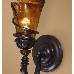 "22481 Vitalia, 1 Lt Wall Sconce by uttermost - Get 10% discount on your first order. Coupon code: ""houzz"". Order today."