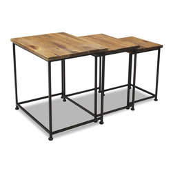 Rally 3 Piece Nesting End Tables - Living Spaces