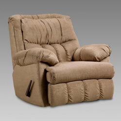 Chelsea Home Payton Chaise Rocker Recliner - Sensations Camel