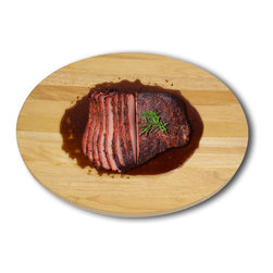 Architec Housewares™ - Architec™ Gripperwood™ Concave Cutting Board - Never separate meat from the juice! Advanced Concave Center for the juiciest Grilled or Roasted Meats. Can be used with all cutlery.