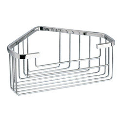 Gedy - Chrome Corner Shower Basket - Wall mounted wire corner shower basket in chrome finish.