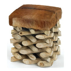 Log Cabin Stool - Log cabin stool is a fantastic alternative when you need extra seating while making your guest feel comfortable. Made up of wood, it ensures the durability of stool. The stool features random finish to suit your home decor. It also provides comfortable seating with addition to sophisticated design of the stool.