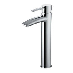 Vigo Industries - Shaddow Chrome Vessel Sink Faucet - Single swivel handle controls water temperature and flow rate. Single hole top mount installation. Universal ceramic disc cartridge. Installation kit included. Pop-up drain not included. Limited lifetime warranty. WaterSense Certified. Spout height: 9 in.. Spout reach: 4.5 in.. 6.5 in. L x 2 in. W x 12.75 in. H. Assembly InstructionsAdd elegance to your bath decor with this sleek and stylish chrome vessel sink faucet.