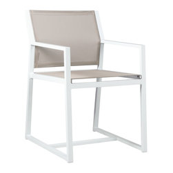 Mamagreen - Mamagreen Allux Dining Armchair - About the Mazzamiz Aluminum Collection: