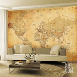 Old Map Wallpaper Mural -