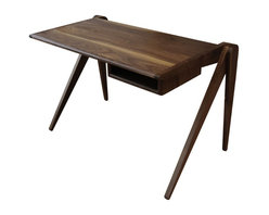 New Breed Furniture Network 44 Desk with Cubby - 44 Desk with Cubby by NBFN. Observe how we make wood perform yoga by holding a Warrior pose. Thanks to a tenon joint, the work surface cantilevers from back, is tied together by a long dowel, and holds out a small cubby for easy storage.