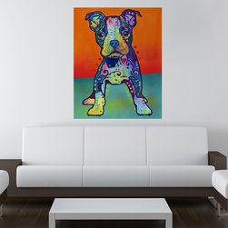 My Wonderful Walls - On My Own Puppy Wall Sticker - Decal, Medium - On My Own puppy graphic by Dean Russo