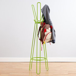 Green Framework Coat Rack - I love the minimal impact this coat rack makes on a room. It is short, takes up very little visual space and is available in a variety of colors.