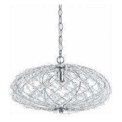 AF Lighting - Af Lighting 8286-1H Horizons Silver Web Pendant - AF Lighting 8286-1H Horizons Silver Web Pendant