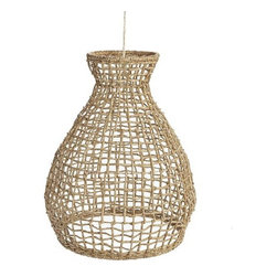 Woven Seagrass Pendant - This natural seagrass pendant is sure to be a show-stopper in any space.