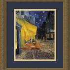 """Cafe Terrace At Night, 1888"" Framed Print by Vincent van Gogh"