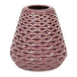 Layla Small Geometric Vase - Solid colors in contemporary hues modernize this collection of geometric vases to create a bold statement in any setting.