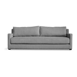 "Gus* - Flip Sofabed - Flip Sofabed  by Gus Modern    At A Glance:   The name says it all - this compact sofa bed ""flips"" open, revealing a low-riding queen size bed that gives your apartment's living room a dual function. Easily opened by one person, the Flip Sofa Bed has a washable top sheet that fastens to the bed with Velcro strips.   What's To Like:  No longer will you have to deal with painfully hard-to-open standard sofa beds. The Flip Sofa easily converts to a queen-size bed in one simple flip of the seat.Gus Modern is known for their emphasis on mid-century-modern-esque style, and Flip sits strongly in the vein of that era's influence. Clean, pure, simple.Those of us with smaller homes can feel left out by the huge sofas out there, and let down by the stylistically weak selection of futons and sofa beds. No more! The Flip Sofabed is small enough for an apartment and cool enough for us to want to take it home.  What's Not to Like:"