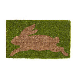 BUNNY DOORMAT - Spring is here; friends and family are near. Lay out your welcome mats. This holiday-inspired doormat is made from the husk fiber of the coconut, which makes it thick, durable, and perfect for feet-wiping (and eco-friendly). Plus, it's easy to clean with just a simple vacuum or hose down.