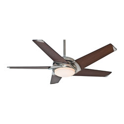 """Casablanca - LED Casablanca 59090 Stealth Brushed Nickel Energy Star 54"""" Ceiling Fan - Features Energy Star Rated + LED Light"""