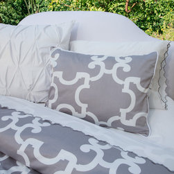 Crane & Canopy - Gray Noe Duvet Cover-Queen/Full-Classic - Combining modern simplicity with classic patterning, our Warm Gray Noe duvet emits a personality of sophistication and refinement.