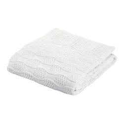 Elegant Baby - Fancy White Knit Receiving Blanket - Fancy White Knit Receiving Blanket