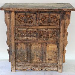 Rare Chinese Three Drawer Coffer Table - Rare Chinese Three Drawer Coffer Table
