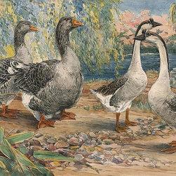 Magic Murals - Geese Wallpaper Wall Mural - Self-Adhesive - Multiple Sizes - Magic Murals - Geese Wall Mural