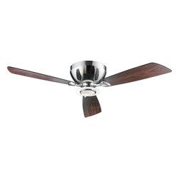 Joshua Marshal - One Light Chrome Hugger Ceiling Fan - One Light Chrome Hugger Ceiling Fan