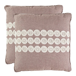 Safavieh Home Furniture - Skylar 20-Inch Taupe Decorative Pillows, Set of 2 - -With a fresh, contemporary eye-catching pattern, this decorative pillow is a lovely addition to any decor. This throw pillow features a modern print design with a hand-woven polyester cover. This throw pillow cover features taupe and ivory.  - Please note this item has a 30-day manufacturer's limited warranty that covers product defects. Inspect your purchase upon delivery and notify us immediately with any concerns. Safavieh Home Furniture - PIL151A-2020-SET2
