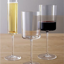 Edge Wine Glasses in Wine Glasses | Crate and Barrel