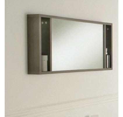 Modern Bathroom Mirrors Oviedo 900mm mirror with shelves